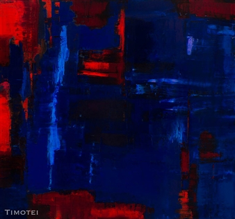 Reflection: Red on Blue