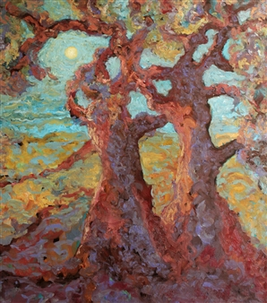 "Rêverie  (Daydream) Oil on Canvas 35.5"" x 31.5"""