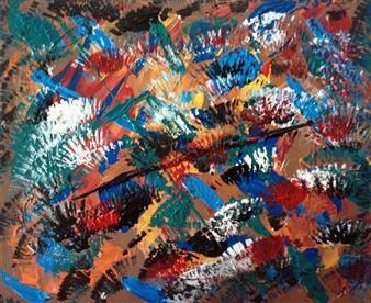 "Plume Sauvage Acrylic on Canvas 10"" x 12"""