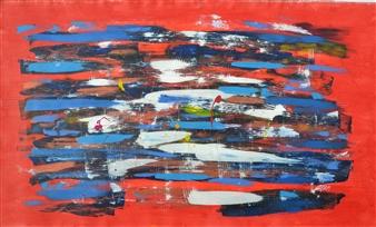 """Les Couleurs Acrylic on Canvas 30"""" x 50"""""""