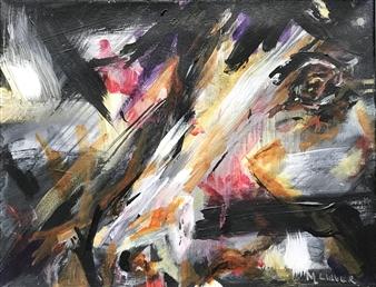 "Emerging Acrylic on Canvas 11"" x 14"""