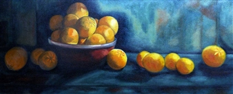 "Oranges Oil on Canvas 19"" x 42"""
