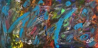 "SplishSplash Acrylic on Canvas 15"" x 30"""