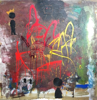 "Untitled 8 Acrylic on Canvas 46"" x 46"""