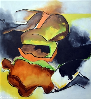 """Street Children Oil on Canvas 48"""" x 48"""""""