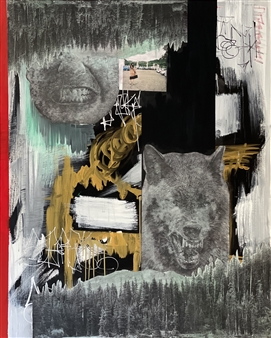 """They Interest Me Mixed Media on Canvas 60"""" x 48"""""""
