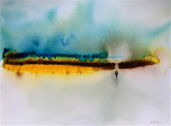 "Birth Watercolor on Paper 12"" x 16"""