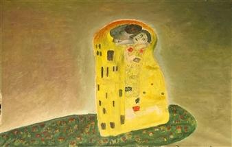 """Deep Kiss Oil on Canvas 31.5"""" x 21.5"""""""