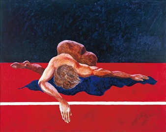 "Reclining Nude Acrylic on Canvas 48"" x 60"""