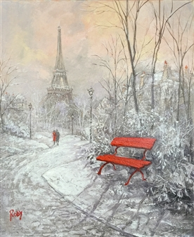 Eiffel Tour in Winter