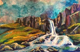"New Destinations III Acrylic on Canvas 20"" x 30"""