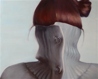 """Who Am I? Acrylic & Oil on Canvas 35.5"""" x 43.5"""""""