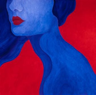 "Blue Neck Acrylic on Canvas 30"" x 30"""