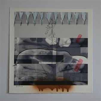 """born to Acrylic & Mixed Media on Paper 40"""" x 40"""""""