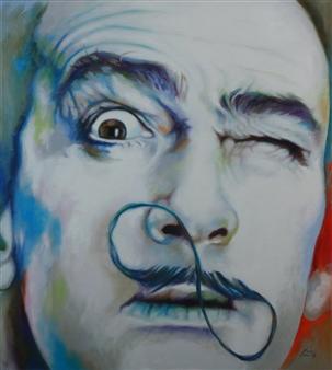 """Dali Oil on Canvas 39.5"""" x 35.5"""""""