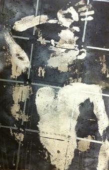 """Illumination Acrylic & Spraypaint on Canvas 27.5"""" x 23.5"""""""