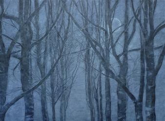 """Full Moon Acrylic on Canvas 45.5"""" x 61"""""""