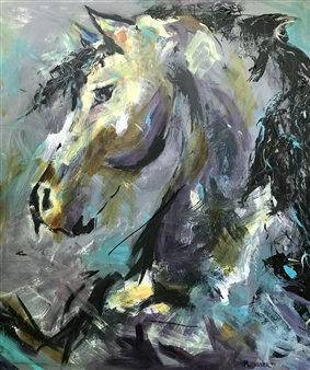 "Enchanted Acrylic on Canvas 36"" x 36"""