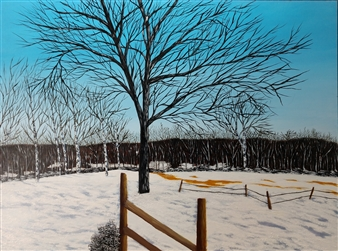 """Winter is Here Acrylic & Oil on Canvas 12"""" x 16"""""""