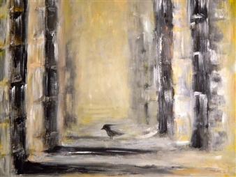 """Ruins Acrylic on Canvas 18"""" x 24"""""""