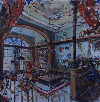"Interior Acrylic on Canvas 39.5"" x 35.5"""