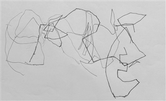 "VvA-C Pencil on Paper 12"" x 16.5"""