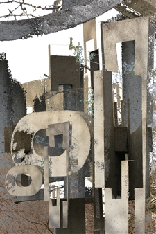 Cement Sculpture Abstract 22