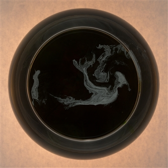 "Kosmos 2.19 Print on Photo Paper between Dibond & Acrylic Glass 40"" x 40"""