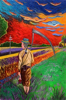 """Lino Oil on Canvas 35.5"""" x 23.5"""""""