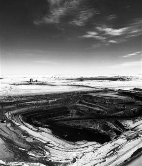 "Death of Coal Archival Pigment Print 45.5"" x 39"""