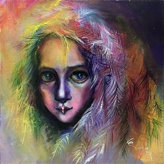 "Polaris Oil on Canvas 9.5"" x 9.5"""