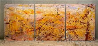"""Ghianda Mixed Media on Canvas 60"""" x 144"""""""