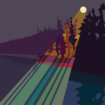 "Boreal Moon Digital Print on Paper 30"" x 30"""