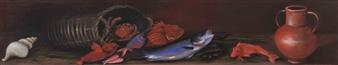 """Retour de Pêche Oil on Canvas 12"""" x 63"""""""