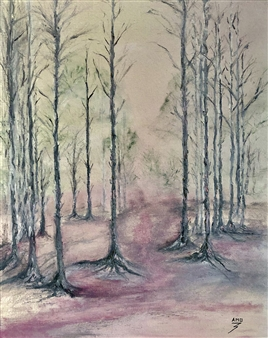 """Pink Forest Oil on Canvas 20"""" x 16"""""""