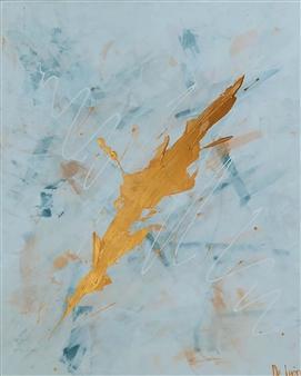 """Calma Encendida Acrylic on Canvas 31.5"""" x 23.5"""""""