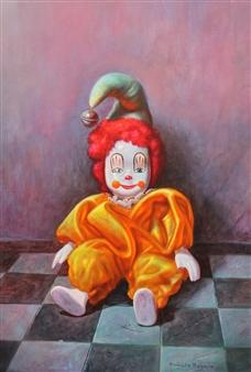 "Porcelain Harlequin Oil on Canvas 28.5"" x 23.5"""