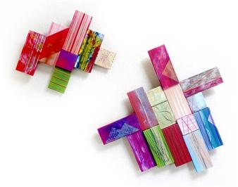 "Celebration Acrylic & Thread on Wood 20"" x 25"""