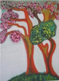 """Los Arboles Acrylic on Canvas 20"""" x 16"""""""