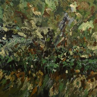 """Botanical Garden 1 Oil & Acrylic on Canvas 24"""" x 24"""""""