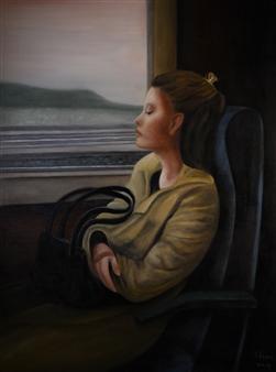 """Voyage au Bout du Songe Oil on Canvas 31.5"""" x 24"""""""