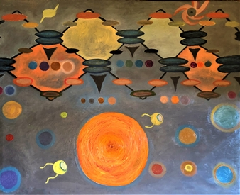 """The Birth of Planet Oil on Canvas 43.5"""" x 35.5"""""""
