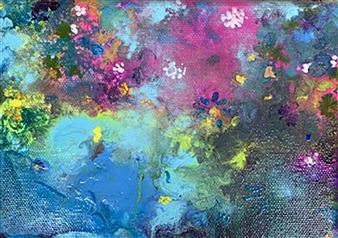 "Beauty of Bermuda #2 Acrylic on Canvas 5"" x 7"""