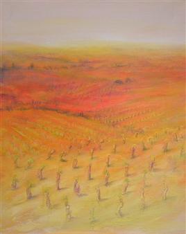 """Vignes en Automne Acrylic on Canvas 35.5"""" x 25.5"""""""