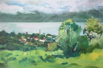 "Lake Chapala, Jalisco Oil on Canvas 24"" x 36"""