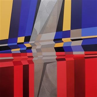 "Highway, The Big Return Acrylic on Canvas 40"" x 40"""