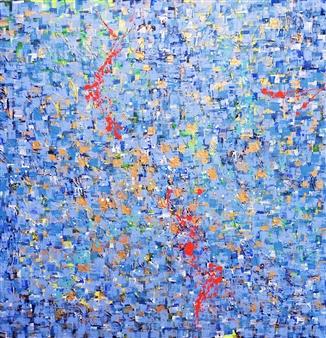 "India Day 5 Acrylic on Canvas 48"" x 48"""