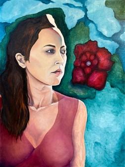 "Shanti Oil on Canvas 47.5"" x 35.5"""
