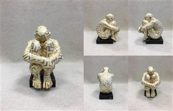 "SWAMI 3-7 Bronze & Gold Leaf 8"" x 5.5"" x 7"""