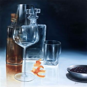 "Bourbon Time 1 Oil on Canvas 36"" x 36"""
